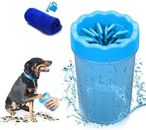 Hunde Pfote Reiniger, Pfotenreiniger Tragbarer Pet Reinigung Pinsel Tasse Hundepfote Reiniger Fuß...