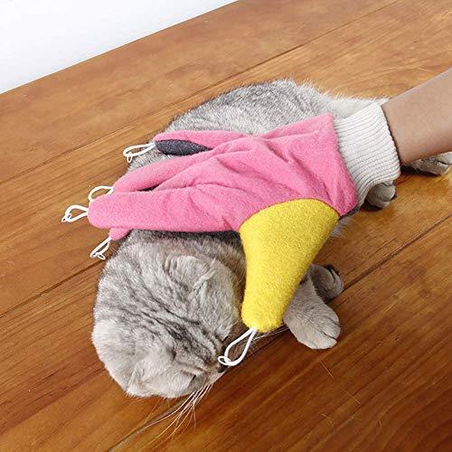 Turtle Story Verde Elegantstunning Gato mágico Cinco Dedos del Guante Teaser Juguete Interactivo for Mascotas, Nombre de Color: Rosa JXNB (Color : Pink)