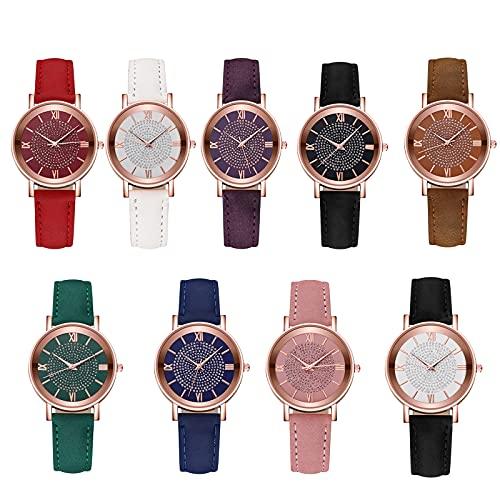Women's Watch-Stainless Steel Dial Quartz Watch|Casual Bracele Watch|Sister in Law Gifts (Brown)