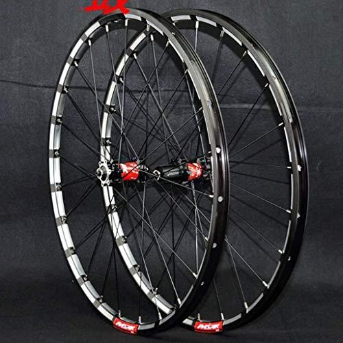 TYXTYX Llantas de Bicicleta MTB 26/27,5/29 Pulgadas Freno de Disco Juego de Ruedas de Ciclismo Buje de cojinete Sellado Rueda Delantera y Trasera de Bicicleta QR Cassette de 24 Orificios 7-11 v