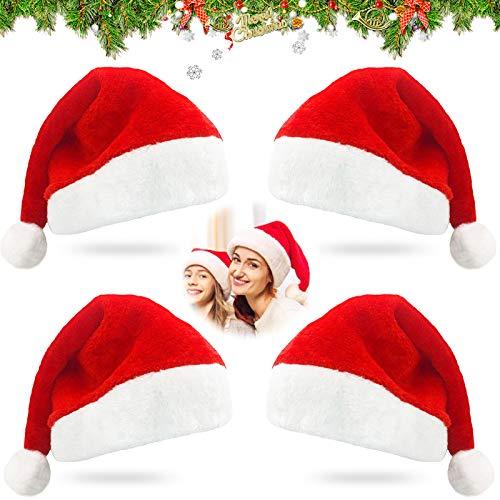 Cappello da Babbo Natale ,Cappello di natale,Cappello bambino Natale,Cappello di natale morbido,Cappello da babbo natale per adulti,Bambini cappello di Natale,Cappello da festa di Natale (A)
