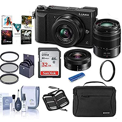 Panasonic Lumix DMC-GX85 Mirrorless Camera with 12-32 & 45-150mm Lenses and Accessories Kit by Panasonic
