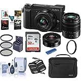 Panasonic Lumix DMC-GX85 Mirrorless Camera with 12-32 & 45-150mm Lenses and Accessories Kit
