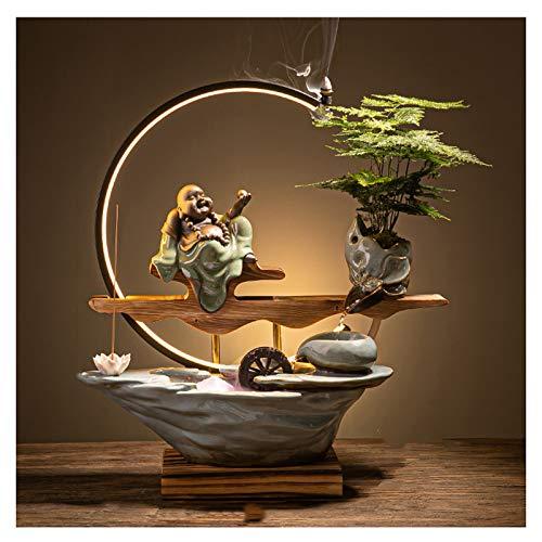 Fuente interior Fuente de agua circulante Feng Feng Shui Wheel Transferencia para hacer dinero Sala de estar Oficina Oficina Desktop Paisaje Apertura de la apertura del regalo Cascada de fuente de esc