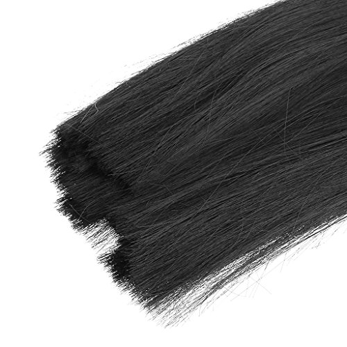 Perruque Cheveux Postiche Raides Long Noir Pour 1/3 1/4 1/6 Poupées SD BJD - 1/3