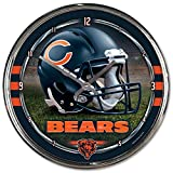 Nfl Football Team Chrome Wall Clock , Chicago Bears , 12-Inch