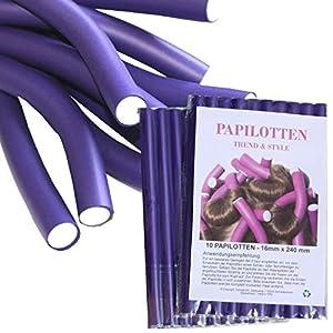 ¡¡NUEVO!! De 10 hasta 60 Bigudíes, de Ø16 x 240mm Rulos para el pelo Rodillos Rulos flexibles Bigudíes Productos de peluquería Rizador, 20 unidades