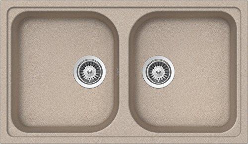 Schock Lithos N200 a 58 – Évier (Undermount Sink, rectangulaire, avoine, semicírculo, 430 x 421 mm, semicírculo)