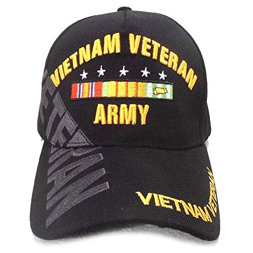 Cyberteez US Army Vietnam Veteran Hat Black Adjustable Cap
