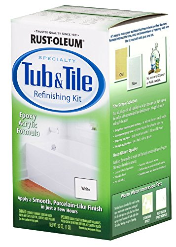 Rust-Oleum 7860519 4 Pack White Bathtub & Title Refinish Paint Kit