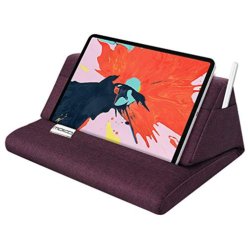 MoKo Tablet Pillow Stand, Soft Tablet Cushion Stand, Fits up to 11' Pad, Fit with iPad 10.2' 2019, New iPad Air 3 2, iPad Pro 11 2020/10.5/9.7, Mini 5 4 3, Samsung Galaxy Tab, Plum