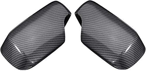ZHAOOP1 par de Cubiertas de Espejo de Repuesto de Fibra de Carbono para BMW E46 1998-2005 Tapas de Espejo de Coche (Color: Negro) - Negro