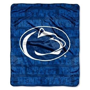 NCAA Penn State Nittany Lions Micro Plush Raschel Throw Blanket Grunge Design