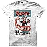 2Bhip Popeye Poweroll Juniors T-Shirt Tee White