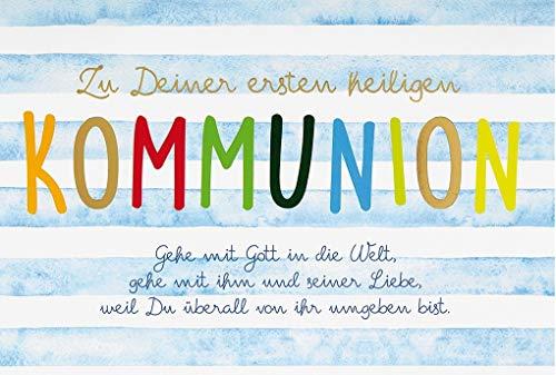 Perleberg Karte zur Kommunion Basic Classic - Textkarte - 11,6 x 16,6 cm