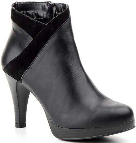 zapatos Estil Agatha zapatos 3913 Corte-Piel,Forro-Piel y Tela,Plantilla-Piel.tacón 9cm.