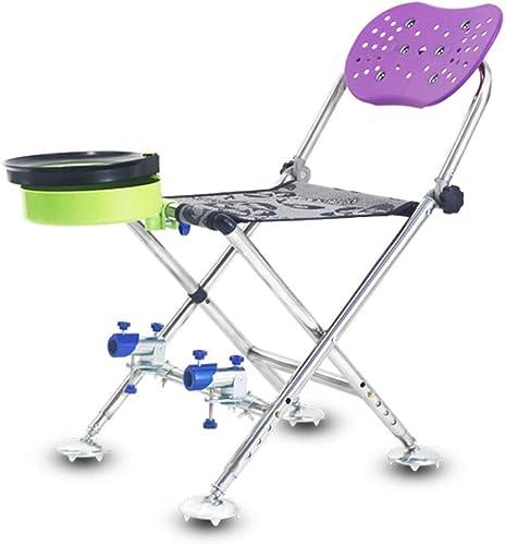 NIUZIMU Chaise de pêche Pliante Camping Portable en Plein air Petits Chevaux Ultra Léger Chaise de Loisirs Chaise Engrenage De Pêche Fournitures De Pêche