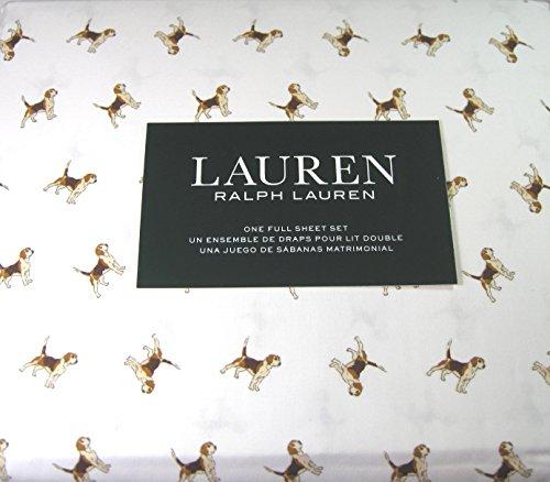 Lauren 4 Piece Full Size Sheet Set Beagle Dogs 100% Cotton