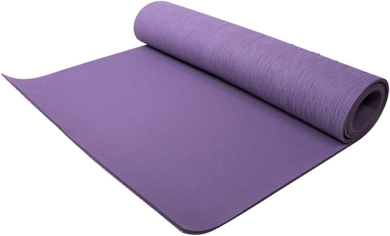 HOUMU Multifunktionale, rutschfeste, umweltfreundliche, komfortable und langlebige Yogamatte aus Naturkautschuk, geruchsneutral Pilates Fitnessmatte (lila)
