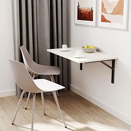 ts-ideen - Mesa plegable (70 x 60 cm), color blanco