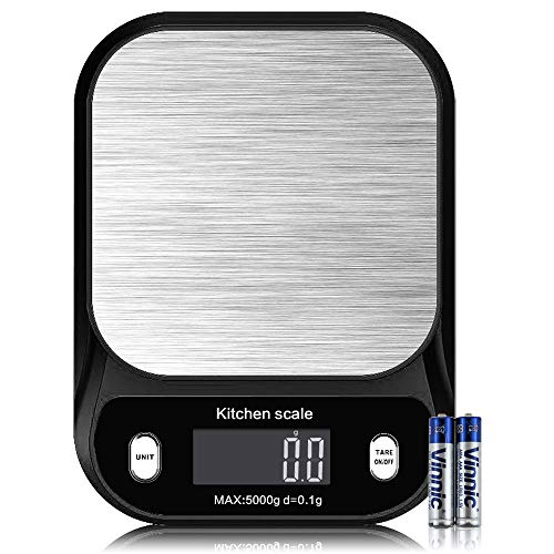 Digital Kitchen Scale GramsMultifunction Kitchen and Food Scale Small11lb/5kg 0001oz/01gJunyuan Medicinal Scale Lab Weighing ScaleLCD DisplayEasy to CleanBatteries IncludedHighly Accurate