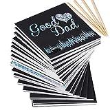 200 Hojas Negras Scratch Paper Papel para Rascar 8,5 x 8,5cm con 4 Lápices Dibujos Magicos Juego de Dibujar Manualidades Escribir (plateado brillante)