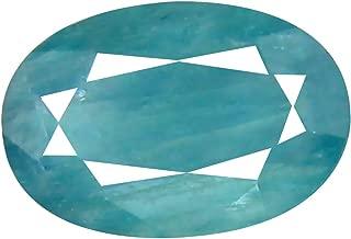 Deluxe Gems 0.90 ct Oval Cut (8 x 6 mm) Unheated/Untreated Greenish Blue Grandidierite Natural Gemstone