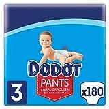 Dodot Pants Pañal - Braguita Talla 3, 180 Pañales, 6-11 kg, Pañal-Braguita con Ajuste 360° Anti-fugas