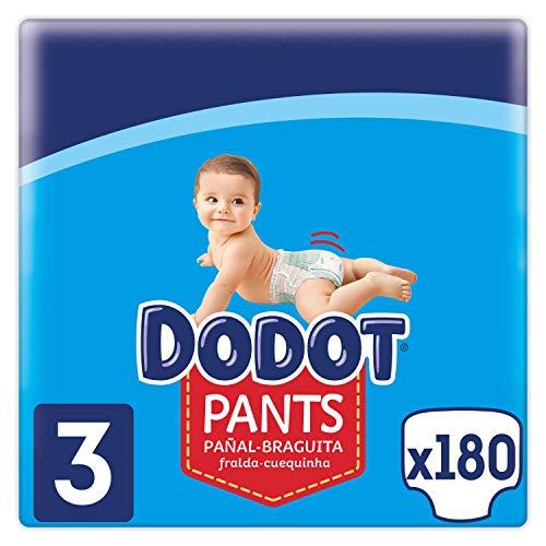 Dodot Pants Pañal - Braguita Talla 3, 180 Pañales, 6-11 kg