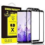 [2-Pack] Yoyamo Gl09 Tempered Glass Screen Protector for Samsung Galaxy S9 Plus, Full Screen Coverage, Black