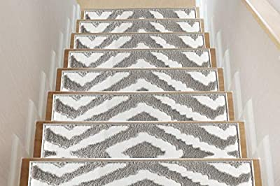 Sofia Rugs Meadow Stair Treads - Carpet Runner Strips for Staircase Steps - Rug-Soft Fabric for Traction and Non-Slip Improvement - Includes Double Sided Adhesive Tape