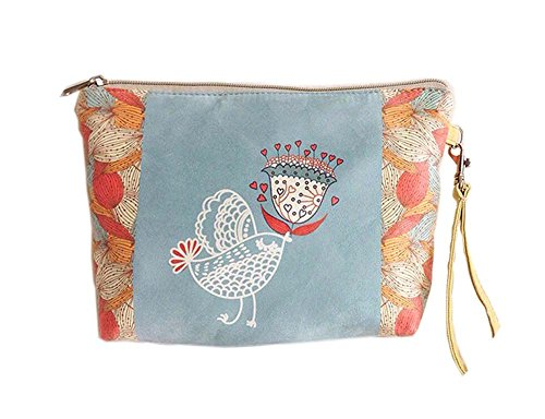 mignon et doux oiseau toile sacs cosmétique/bourse