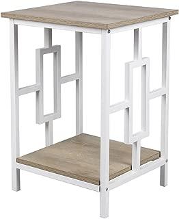 GIA  End Table, Ash/White