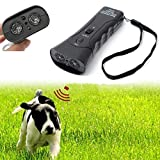 Sonic bee LED Ultrasonic Dog Chaser Aggressive Attack Repeller Trainer Flashlight Effective Barking Stop Device
