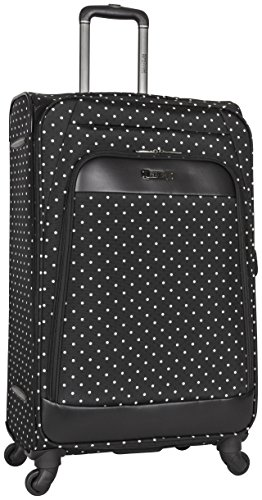 Kenneth Cole Reaction Dot Matrix 28' Lightweight Expandable 4-Wheel Spinner Checked Luggage, Black