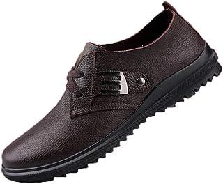 Clásicos para Hombre Oxfords Casual Mocasines Planos con Cordones Mocasines de Viaje Confort Retro Zapatos de Vestir de Ne...