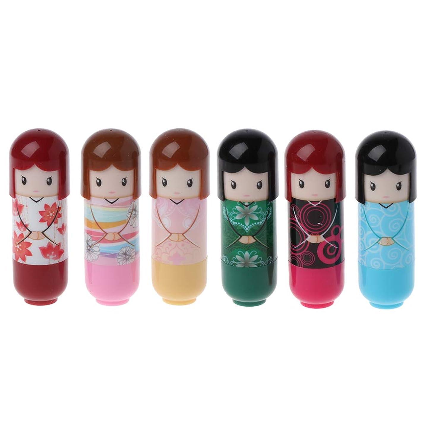 リンク小さなベルベットKimyuo 6本 着物人形 化粧 リップグロスバーム しっとり ? リップペン 化粧品 口紅