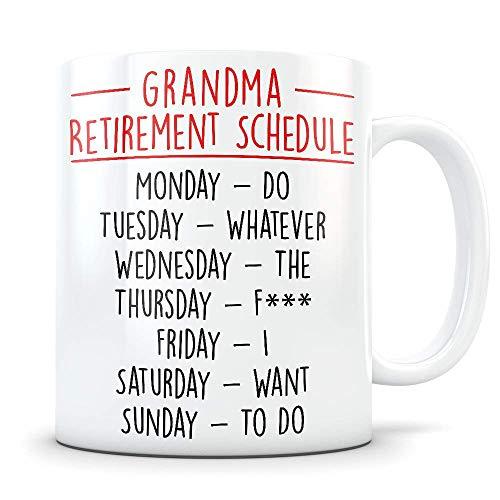N\A Regalo de jubilación de Abuela para Abuelas, Regalo de Abuela jubilada, Taza de jubilación de Abuela, Regalo de jubilación de Abuela, Regalo Divertido de mordaza de jubilación