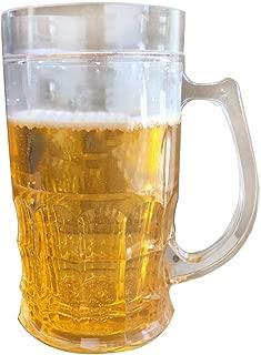 450ml Tricky Beer Mug Mezzanine Spoof Beer Mug, creative double interlayer summer town ice spoof fake beer mug