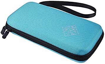 Zaracle for Graphing Calculator Texas Instruments TI-84 / Plus CE Hard EVA Carry Case Handheld Storage Case Travel Bag Protective Pouch Box (Blue)