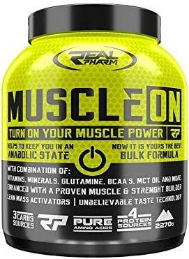 Real Pharm Muscle ON Weight Gainer Bulk – 2270 g (chocolate)