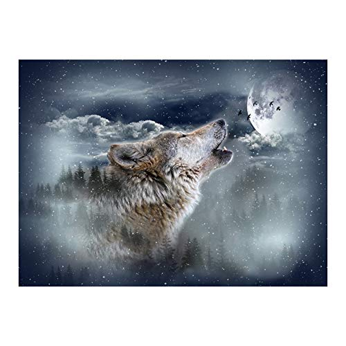 Hoffman Digital Call Of The Wild Wolf 32in Panel Moonstruck Quilt Fabric
