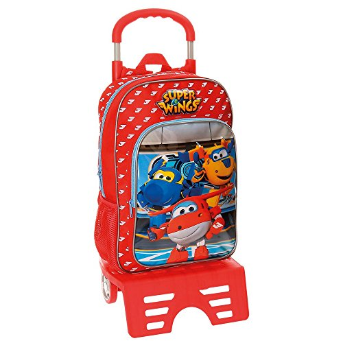 Super Wings rugzak met trolley.