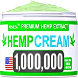 Instant Hemp Cream - 1,000,000 - Made in USA - Relieves Muscle, Foot, Shoulder, Joints and Back - Natural Hemp Oil Extract Gel with MSM - Glucosаminе - Arnica - Turmeric - 4oz