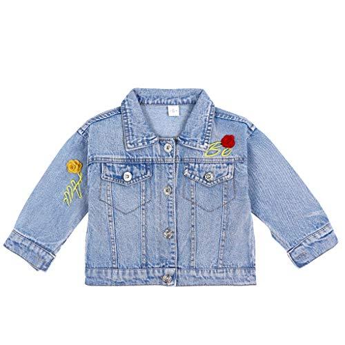 Chaqueta Vaquera Bebé Niñas Abrigo Jean Azul Infantil Cazadora Vaquera Ropa Jeans...