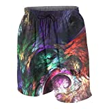 Mark Stars Colorful-shapes-21135 Junior Boys Girl'S Youth Swimming Trunks Briefs Shorts(L(14-16),White)
