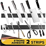 Adhesive Magnetic Strip for Knives Kitchen with Multipurpose Use as Knife Holder, Knife Rack, Knife Magnetic...
