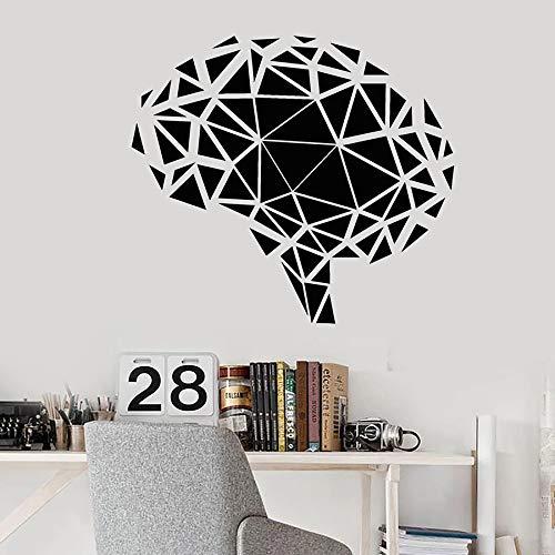 yaonuli Geometrische Wandtattoo Polygon Gehirn Denken Vinyl Aufkleber Schlafzimmer Wohnkultur 68X75cm