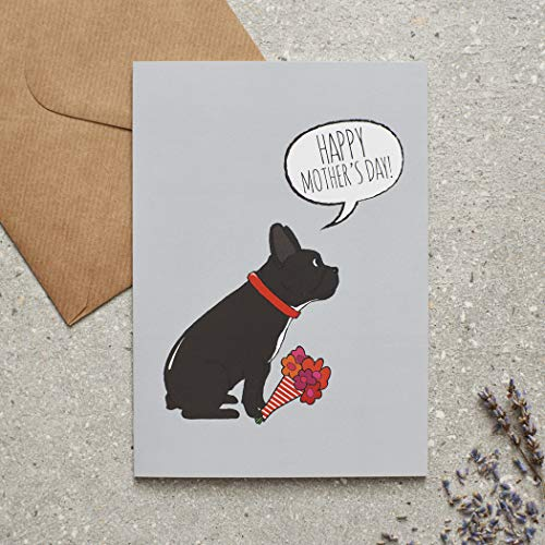 Promini French Bulldog Mother's Day Card