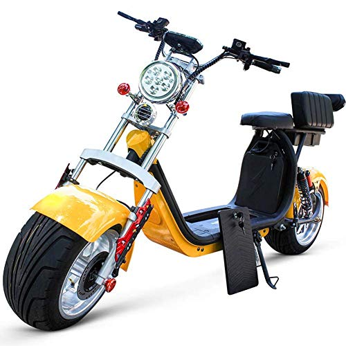 YLLN Adulto 60V 12AH 1500w Eléctrico Citycoco Halley Scooter Harley